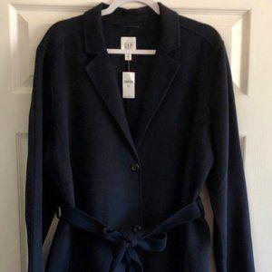GAP navy blue wool coat XL